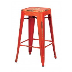 "OSP Designs Bristow 26"" Antique Metal Barstool 2 pack - Antique Orange Finish (BRW3026A2-AOR)"