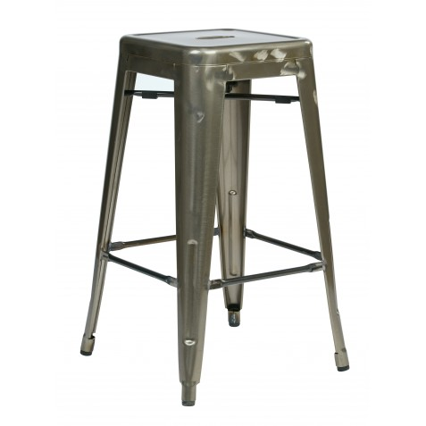 "OSP Designs Bristow 26"" Antique Metal Barstool 2 pack - Antique Yellow with Blue Specks (BRW3026A2-ATW)"