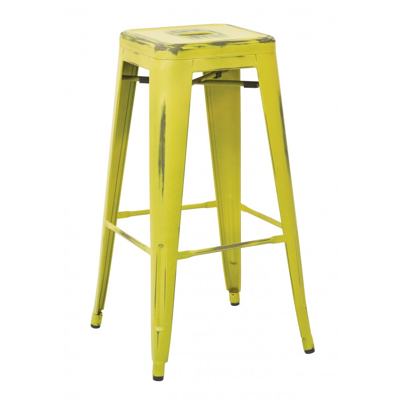 """OSP Designs Bristow 30"""" Antique Metal Barstool 2 pack - Antique Lime Finish (BRW3030A2-AL)"""