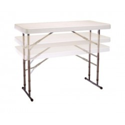 Lifetime 4 ft. Commercial Adjustable Height Folding Table (Almond) 80161