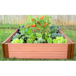 """Frame It All 4' x 4' x 11"""" Classic Sienna Raised Garden Bed - 2"""" profile (300001084)"""