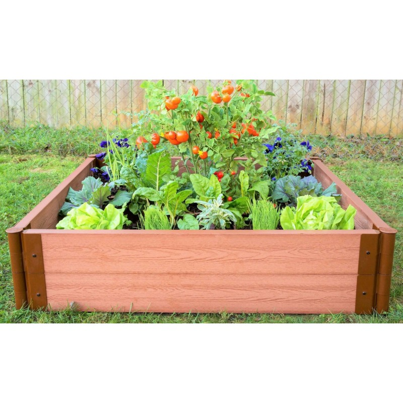 "Frame It All 4' x 4' x 11"" Classic Sienna Raised Garden Bed - 2"" profile (300001084)"