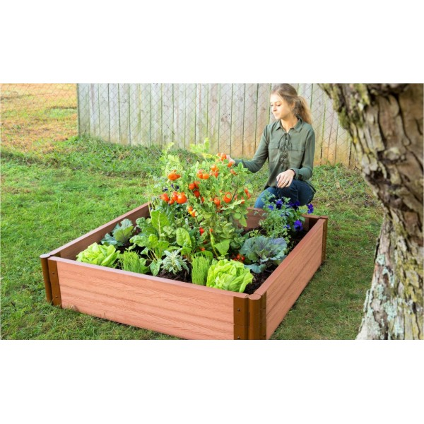 Frame It All Classic Sienna Raised Garden Bed 2in 4x4 2