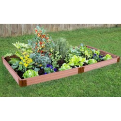 "Frame It All 4' x 8' x 5.5"" Classic Sienna Raised Garden Bed - 2"" profile (300001090)"
