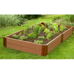 "Frame It All 4' x 8' x 11"" Classic Sienna Raised Garden Bed - 2"" profile (300001091)"
