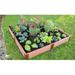 """Frame It All 8' x 8' x 11"""" Classic Sienna Raised Garden Bed - 2"""" profile (300001099)"""