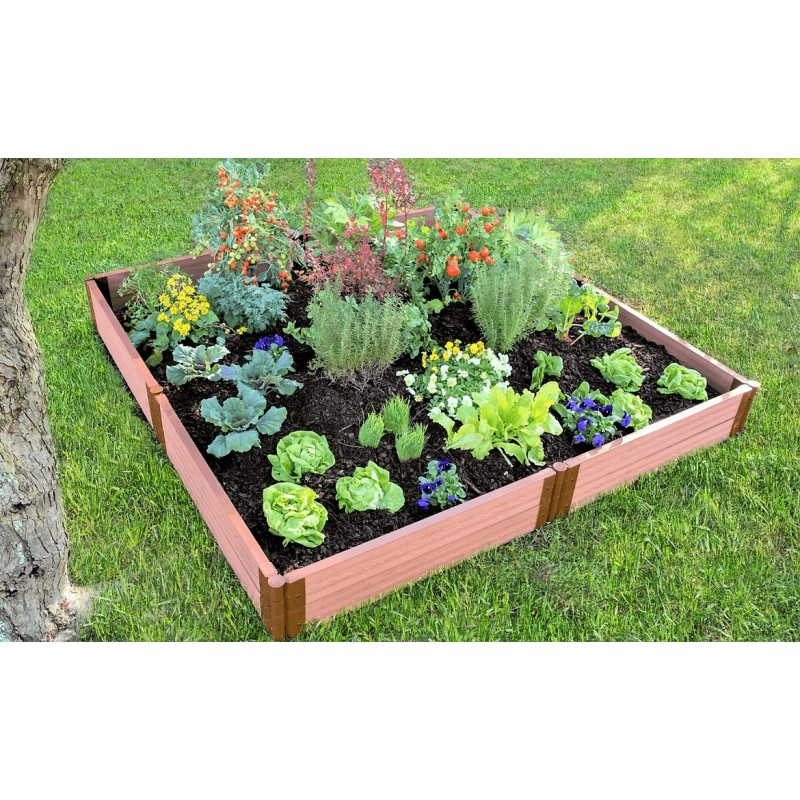 "Frame It All 8' x 8' x 11"" Classic Sienna Raised Garden Bed - 2"" profile (300001099)"