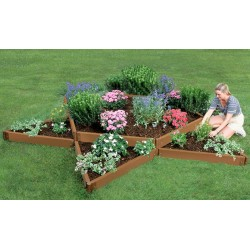 "Frame It All 12' x 12' x 11"" Classic Sienna Raised Garden Bed Garden Star - 2"" profile (300001160)"