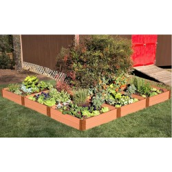 """Frame It All 12' x 12' x 11"""" Classic Sienna Raised Garden Bed 'L' Shaped - 1"""" profile (300001168)"""