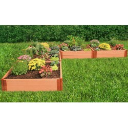 """Frame It All 12' x 12' x 11"""" Classic Sienna Raised Garden Bed 'L' Shaped - 2"""" profile (300001169)"""