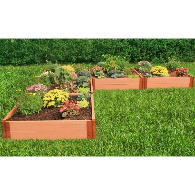 "Frame It All 12' x 12' x 11"" Classic Sienna Raised Garden Bed 'L' Shaped - 2"" profile (300001169)"