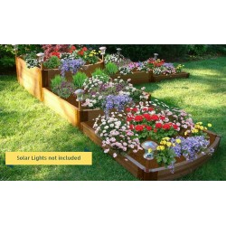 "Frame It All 12' x 12' x 22"" Classic Sienna Raised Garden Bed Split Waterfall Tri-Level - 2"" profile (300001179)"