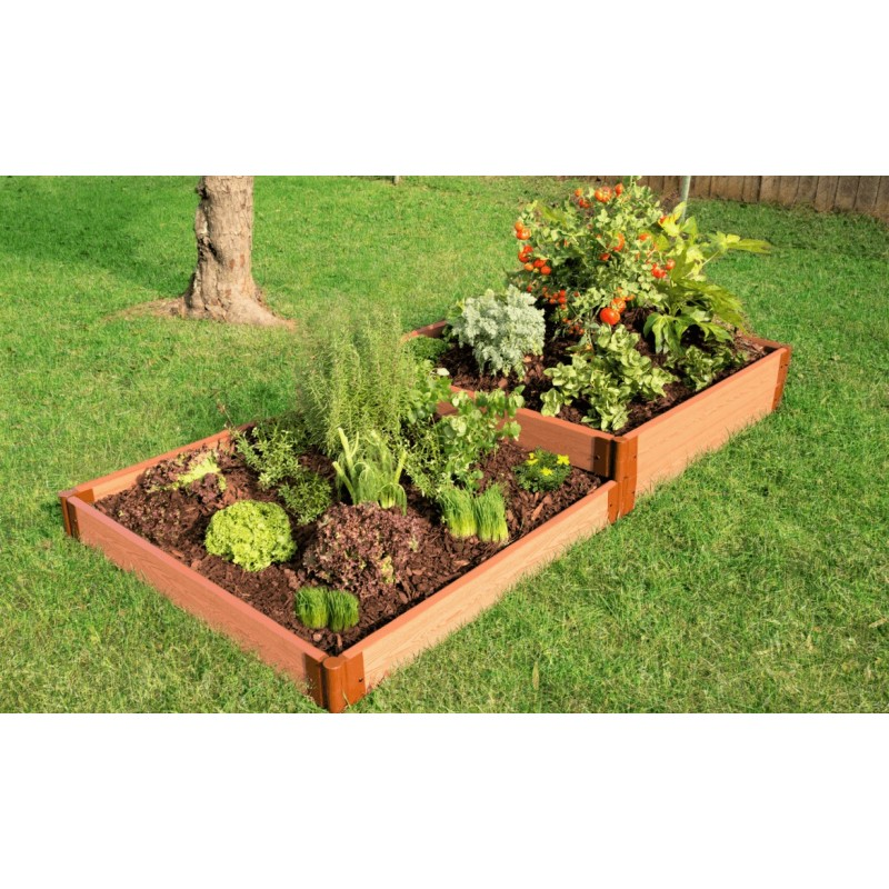 "Frame It All 4' x 8' x 11"" Classic Sienna Raised Garden Bed Terraced - 2"" profile (300001180)"