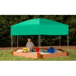 Frame It All Hexagon Sandbox Kit 7x8 2in. w/ Telescoping Canopy & Cover (300001365)