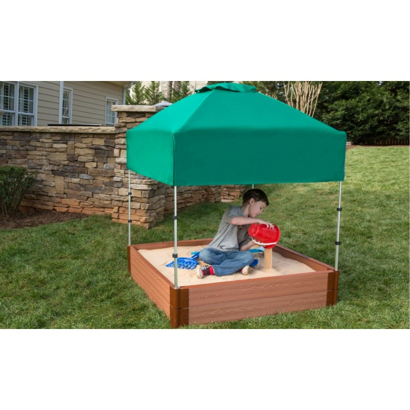 Frame It All Square Sandbox Kit 4x4 1in. w/ Telescoping Canopy & Cover (300001364)