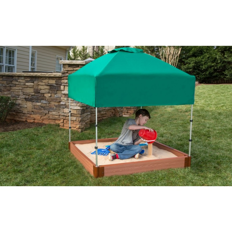 Frame It All Square Sandbox Kit 4x4 1in. w/ Telescoping Canopy & Cover (300001363)