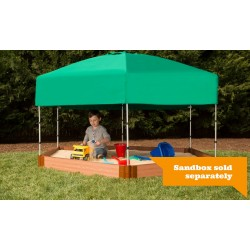 Frame It All Hexagon Sandbox Kit 7x8 w/ Telescoping Canopy & Cover (300001362)