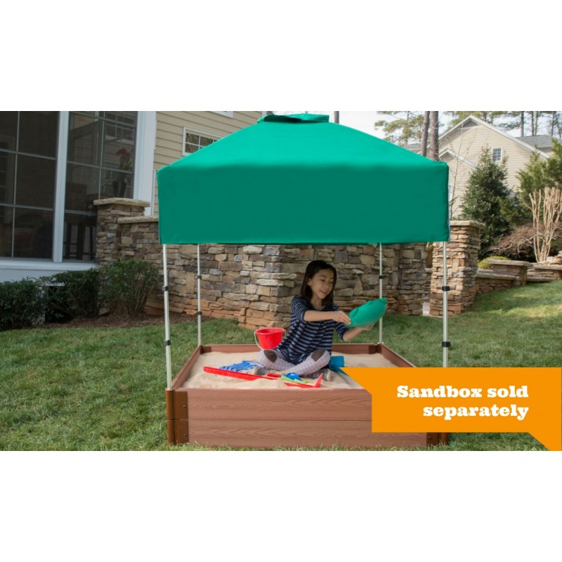 Frame It All Square Sandbox Kit 4x4 w/ Telescoping Canopy & Cover (300001361)