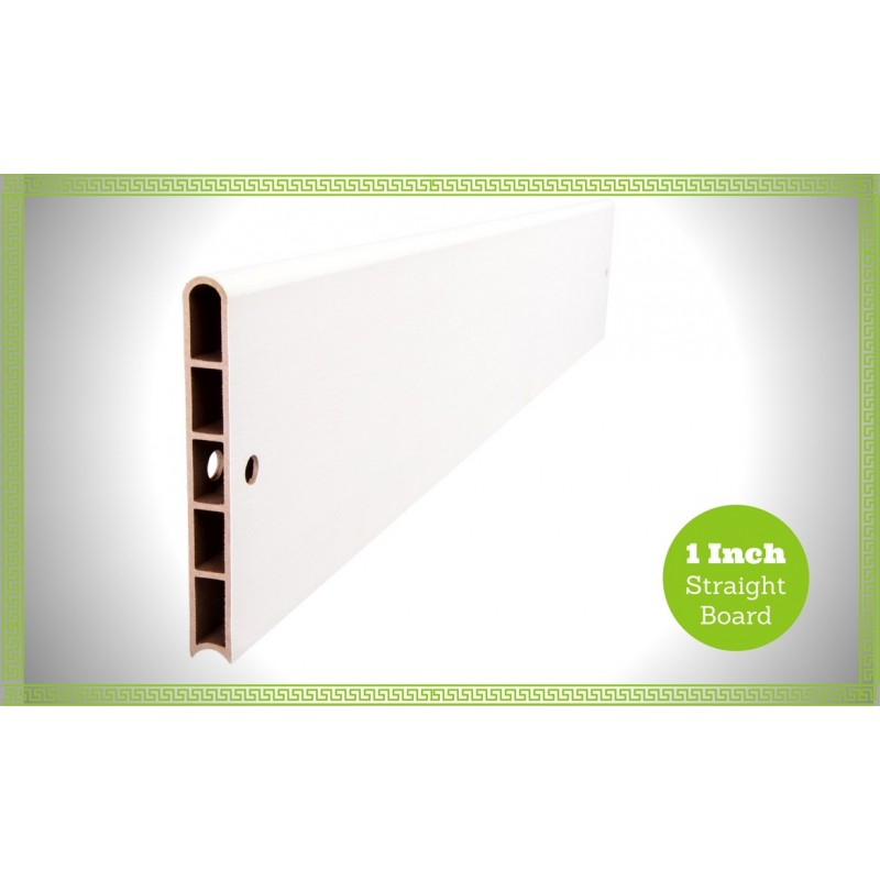 Frame It All Classic White Composite Raised Garden Bed Boards - Straight 1 profile [300001614]