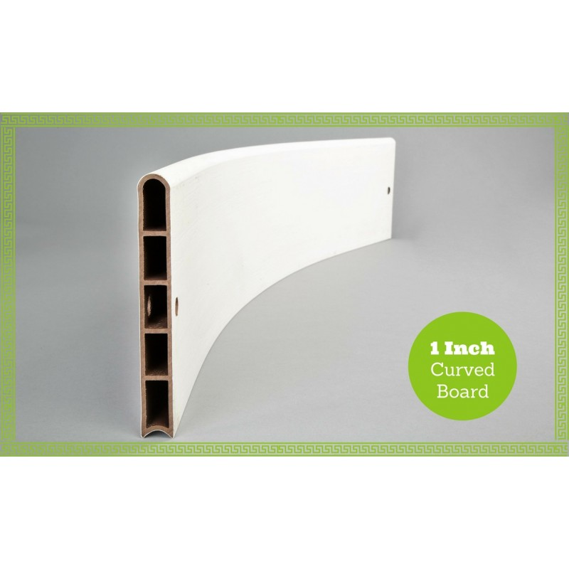 Frame It All Classic White Composite Raised Garden Bed Boards - Curved 1 profile [300001613]