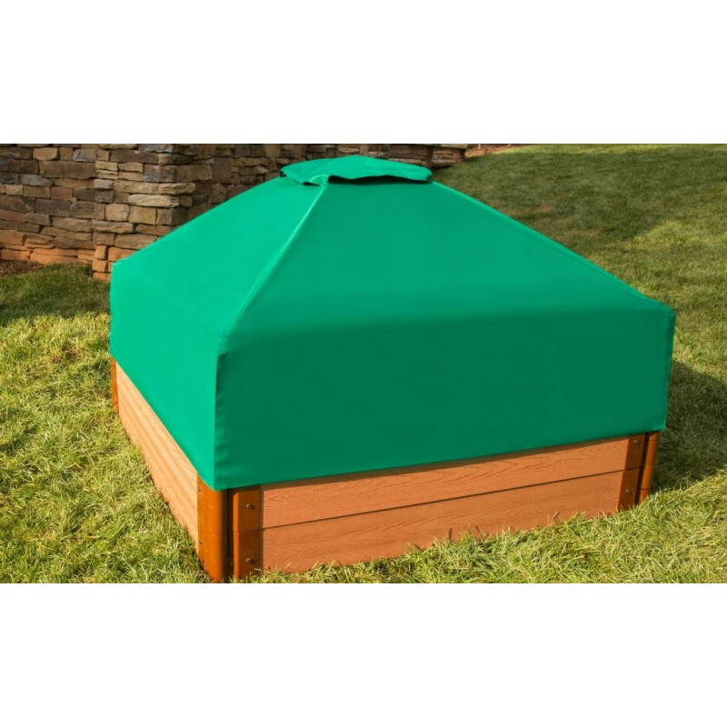 Frame It All Square Sandbox Kit 2in. 4x4 2 Level w/ Collapsible Cover (300001513)