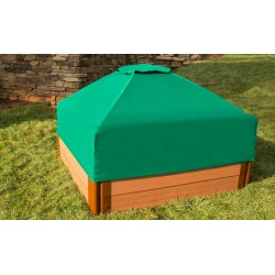 Frame It All Square Sandbox Kit 1in. 4x4 2 Level w/ Collapsible Cover (300001512)