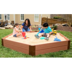 Frame It All Hexagon Sandbox Kit 1in. 7x8 2 Level w/ Collapsible Cover (300001510)