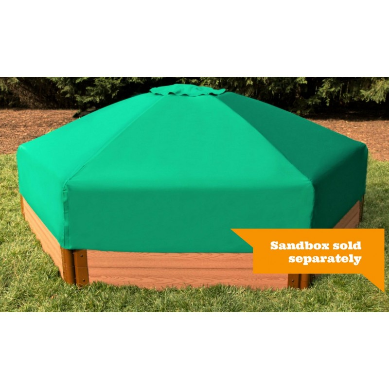 Frame It All Hexagon Sandbox Kit 7x8 w/ Collapsible Cover (300001508)