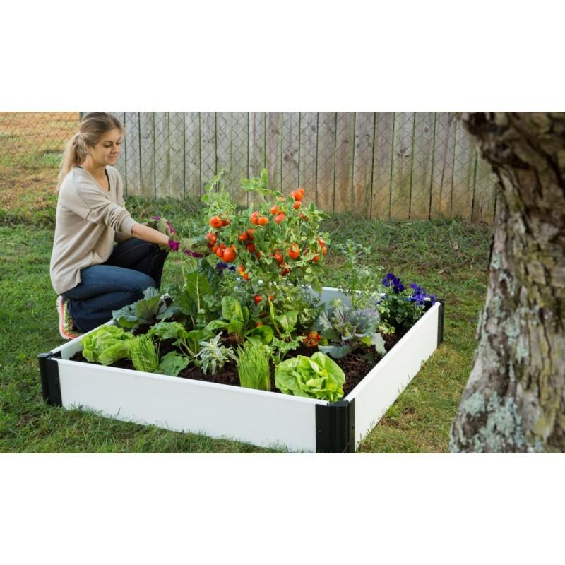 Frame It All Raised Garden Bed 4x4ft - White (300001201)