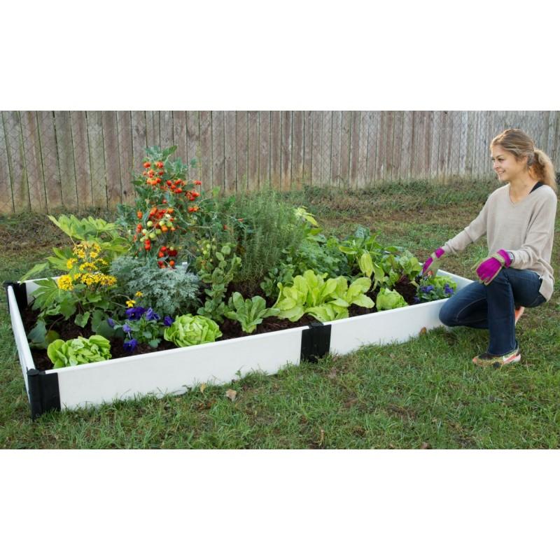 Frame It All Raised Garden Bed 4x8ft - White (3000012015)