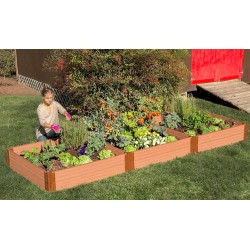 Frame It All Classic Sienna Raised Garden Bed 4x12 1in. 2 Level (300001400)