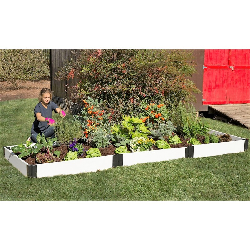 Frame It All Classic Sienna Raised Garden Bed 4x12 1 Level - White (300001401)