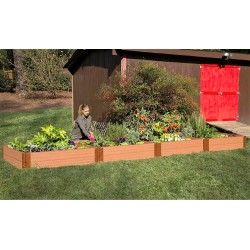 Frame It All Classic Sienna Raised Garden Bed 4x16 1in 2 Level (300001402)