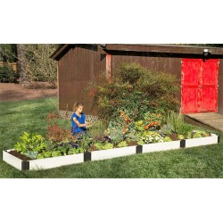 Frame It All Classic Sienna Raised Garden Bed 4x16 1 Level - White (300001403)