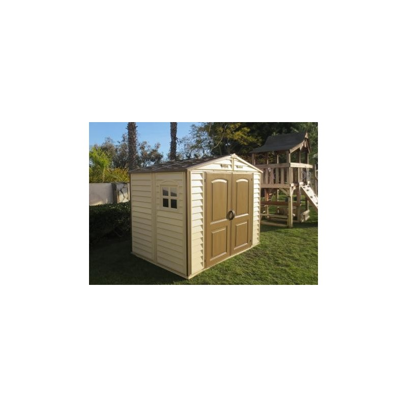 Duramax 8 39 x 5 5 39 storeall vinyl shed with foundation kit for Garden shed 8x5