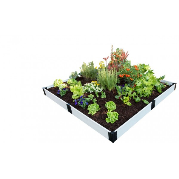 Frame It All Classic Sienna Raised Garden Bed 8x8 1 Level - White ...