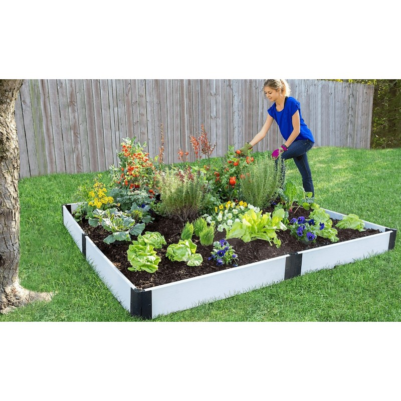 Frame It All Classic Sienna Raised Garden Bed 8x8 1 Level - White (300001404)