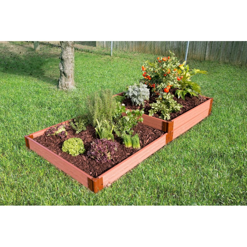 Frame It All Classic Sienna Raised Garden Bed 4x8 1in - Terraced (300001405)