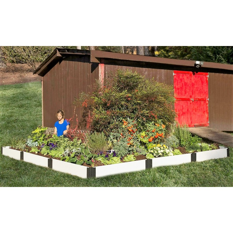 Frame It All Classic White Raised Garden Bed 12x12 L Shaped 1 Level (300001407)