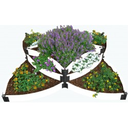 Frame It All Classic White Raised Garden Bed Versailles Sunburst (300001408)