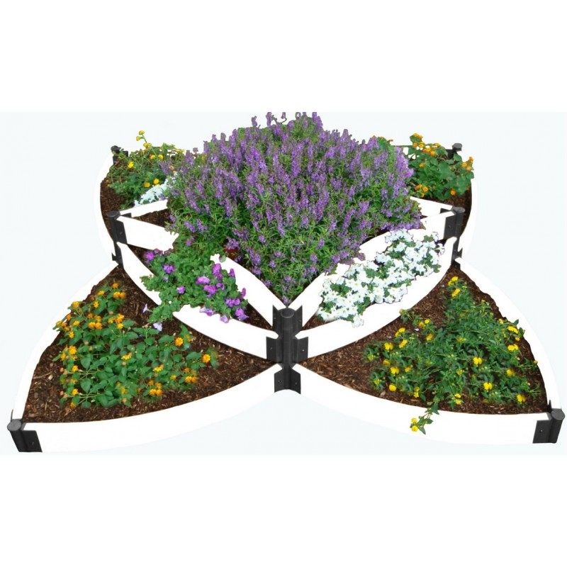 Frame It All Classic White Raised Garden Bed Versailles Sunburst (300001408)