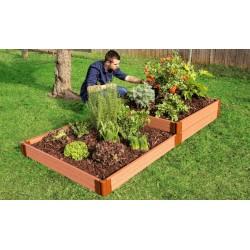 Frame It All Classic Sienna Raised Garden Bed Garden Star 12x12 1in (300001409)