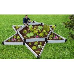 Frame It All Classic Sienna Raised Garden Bed Garden Star 12x12 - White (300001410)