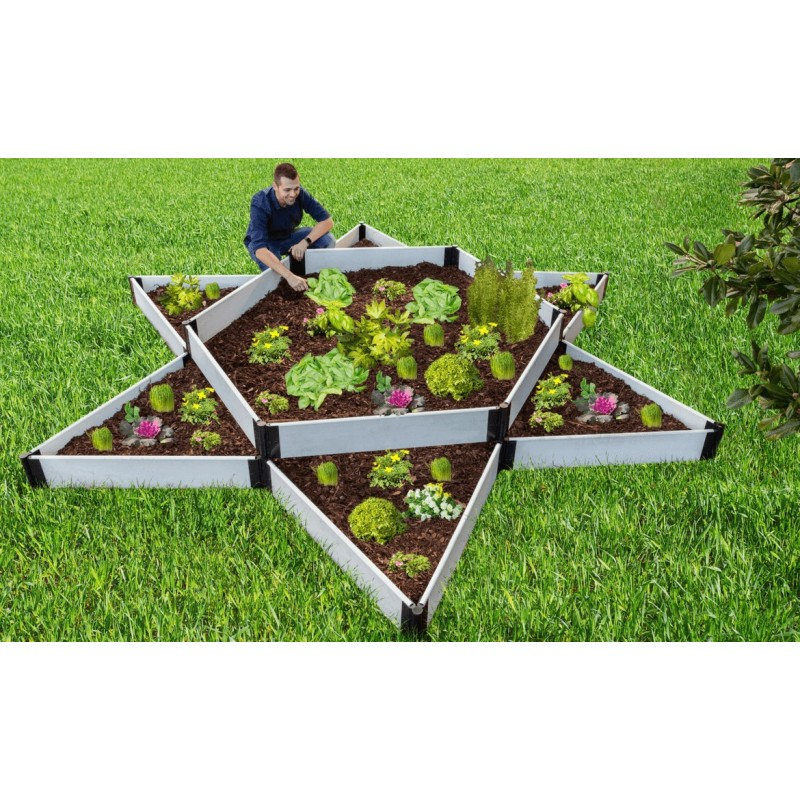 Frame It All Classic Sienna Raised Garden Bed Garden Star 12x12 - White (300001410)