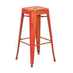"OSP Designs Bristow 30"" Antique Metal Barstool 4 pack - Antique Orange Finish (BRW3030A4-AOR)"