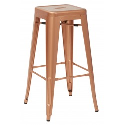 "OSP Designs Bristow 30"" Antique Metal Barstool 4 pack - Copper Finish (BRW3030A4-CP)"