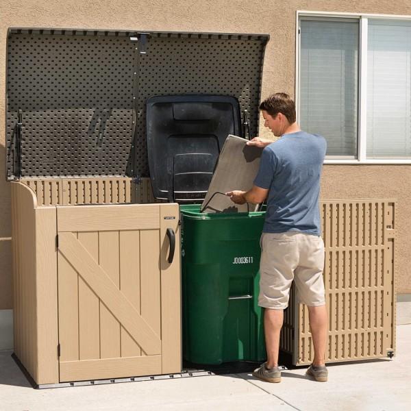 Lifetime Sheds 561 Gallon Plastic Horizontal Storage Box