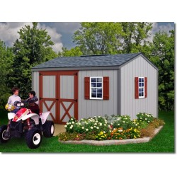 Best Barns Cypress 12x10 Wood Storage Shed Kit (cypress_1210)