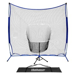 Hathaway Powerstroke Baseball Hitting Net System with Adjustable Tee (BG3401)