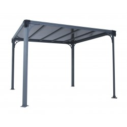 Palram 10 x 10 Milano 3000 Gazebo Kit - Gray (HG9172)